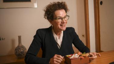 Carol Schwartz at Kenzan Japanese restaurant.