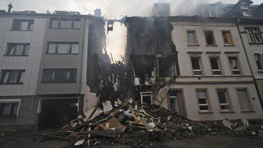 German police say 25 people were injured, when an explosion destroyed a multi-story building in the western city of Wuppertal.