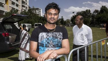 Ashok Raajha has been in Australia for six years.