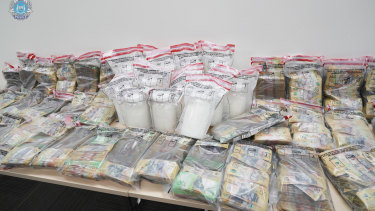 Detectives from the Serious and Organised Crime Division found the drugs and cash.