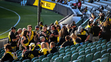 A capped crowd at the MCG earlier this year.