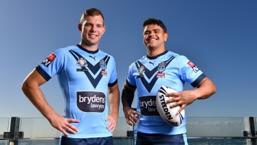 Turbo and Trell ... Tom Trbojevic and Latrell Mitchell have been picked in the centres for the Blues.
