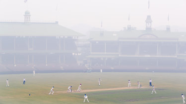 NSW spinner Steve O'Keefe strikes to remove Mitchell Swepson in extraordinary conditions at the SCG this week.