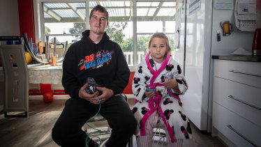 Jake and Layla Finlayson were affected by toxic smoke from peat fires in Victoria's south-west.