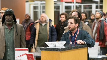 Michael K. Williams and Emilio Estevez star in The Public. Estevez also directs.
