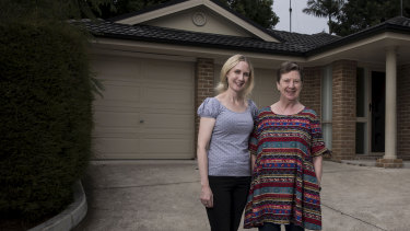 Mother and daughter, Joanne and Lyn Auberson, have pooled their money to buy a house in the Sydney market.