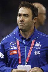 North Melbourne coach Brad Scott.