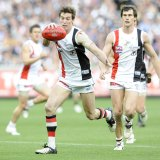 Lenny Hayes kicking the point to draw the game.