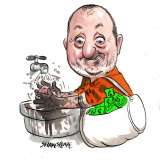 Russel Howcroft was providing creative consulting services to the Minerals Council's COAL21. Illustration: John Shakespeare