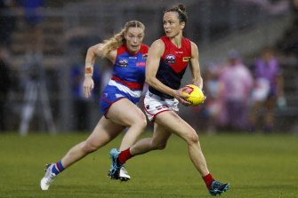 Daisy Pearce, right, has weighed in on the concussion debate.