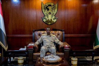 Mohamed Hamdan, also known as Hemeti, the de-facto ruler of Sudan at military headquarters in Khartoum.