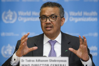 Tedros Adhanom Ghebreyesus, the director general of the World Health Organisation.
