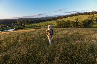 Bruce Pascoe on his property, Yumburra, near Mallacoota.