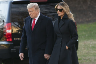 Trying times: US President Donald Trump and First Lady Melania Trump on December 23.