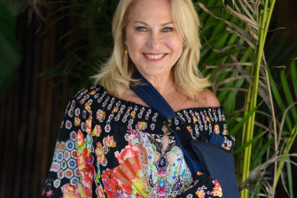 No match for an axe, or a paparazzo: Kerri-Anne Kennerley on Tuesday night in Double Bay.