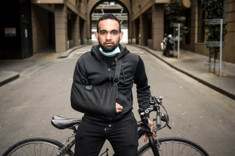 Korey Penny, an Aboriginal man from Western Australia working on Melbourne's Metro Tunnel project, says he was violently attacked by police while riding to work on his bike.