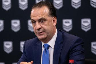 ARLC chairman Peter V'landys wants an early return for the NRL.