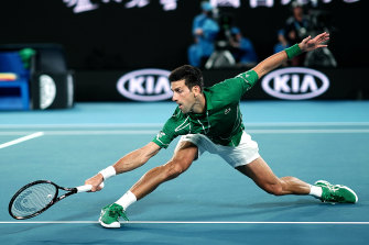Novak Djokovic recovered to take the win over Jan-Lennard Struff.