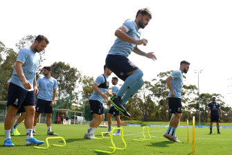Milos Ninkovic completed training on Wednesday.