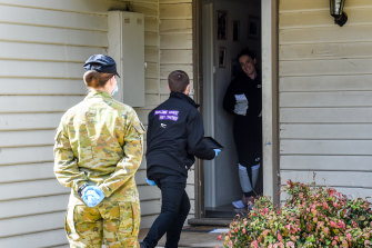 Australia Defence Force troops are doorknocking Shepparton residents asked to self-isolate.
