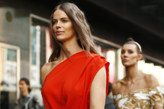 Model Robyn Lawley, pictured during Melbourne Fashion Week, has championed curve fashion.