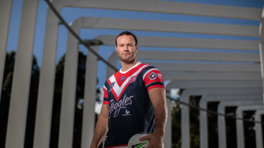 Top Chook ... Boyd Cordner poses during the 2019 NRL Finals Series Launch at The Calyx.