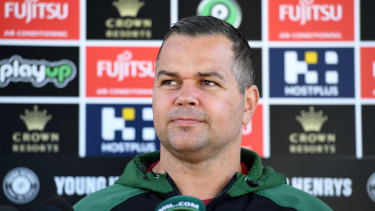 Waiting game: Anthony Seibold was ready to be announced as the Broncos boss before Wayne Bennett threw a spanner in the works.