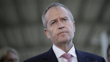 Opposition Leader Bill Shorten in Gosford on Saturday morning, responding to questions about Melissa Parke's decision to quit as Labor candidate for Curtin.