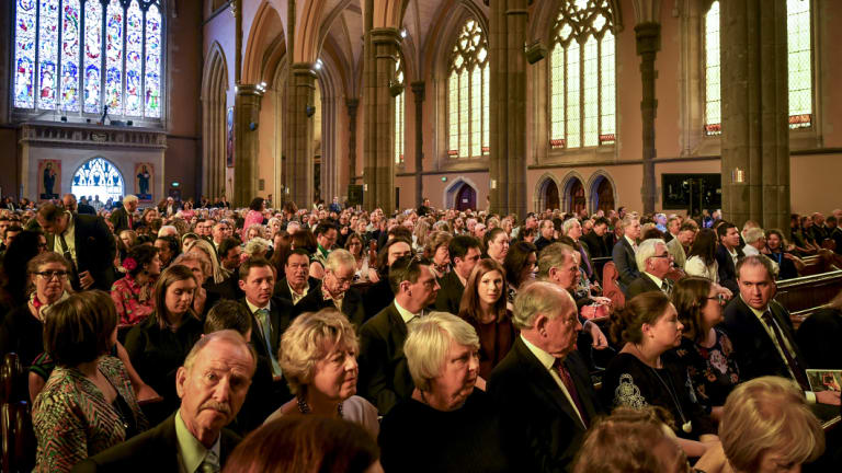 The cathedral was packed.