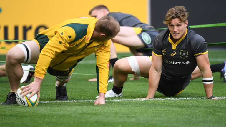 Heads up: The Wallabies stare down a golden opportunity to go 2-0 up in the series against Ireland.