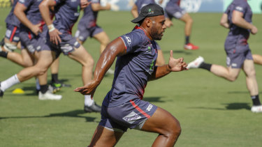 Title push: Samu Kerevi training with the Queensland Reds this week.