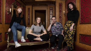 Actor Maddy McWilliam, director Imogen McCluskey, actor, Alex King and writer-producer Béatrice Barbeau-Scurla at the State Theatre.