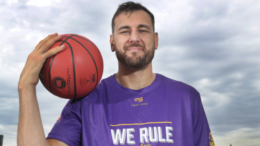 Poster boy: Andrew Bogut has been at the centre of the NBL's success this season.