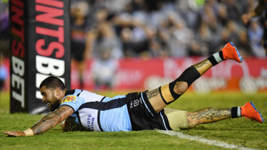 Heading north: Andrew Fifita and the Sharks will kick off Magic Round against the Titans on Thursday.