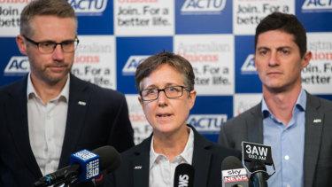 ACTU secretary Sally McManus calling on John Setka to resign.