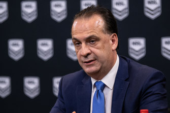 ARLC chairman Peter V'landys wants an early return for the NRL after claiming his own pandemic expert had got it wrong.