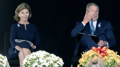 'Children of the same foul spirit': George W. Bush compares political extremists to 9/11 terrorists