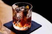 A cocktail at IXL Long Bar inside Henry Jones Art Hotel, Hobart.