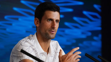 Novak Djokovic has been spending an extended period with his family in Spain during the worldwide crisis.