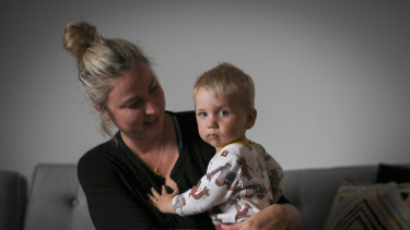Baby Billy suffered a stroke in the womb of his mother Maryke.