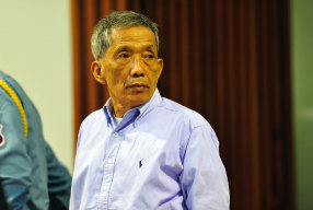 """Kaing Guek Iev, also known as """"Duch"""" in the court room during his 2010 trial in Phnom Penh."""