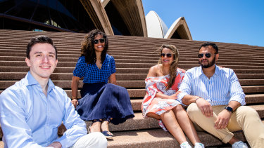 Gabriele Tedesco, Hayat Horma, Duhita Khadepau and Abhijeet Gandhi will become Australian citizens on Australia Day at a ceremony at the Sydney Opera House.