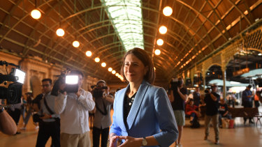 Premier Gladys Berejiklian chose Central Station as the venue for her announcement of a fast rail network.
