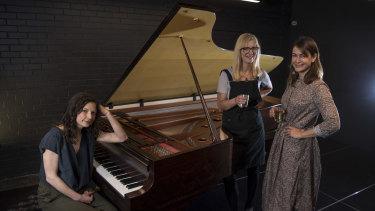 Georgina Lewis, Georgina Imberger and Erica Martin at Tempo Rubato