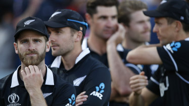 So close: New Zealand players ponder what might have been.