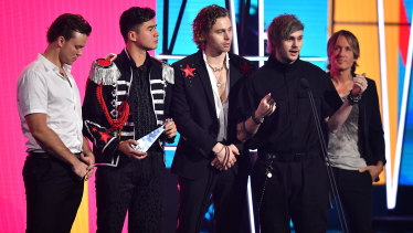 5 Seconds of Summer accept the ARIA for Best Australian Live Act.