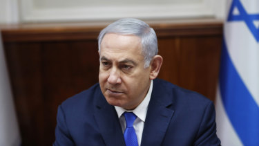 Israeli Prime Minister Benjamin Netanyahu, who has formally launched his election campaign.