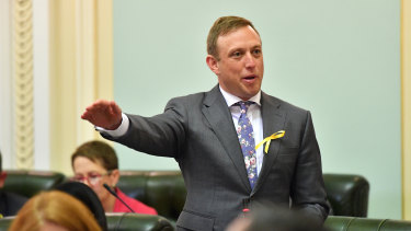 Health Minister Steven Miles gave a spirited defence of Labor's legislation in Parliament.