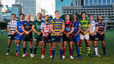 Captains ahead of last year's Shute Shield.