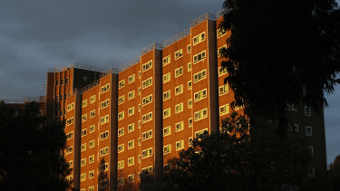 Alfred Street Public Housing complex in North Melbourne.